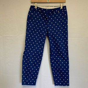 J. Crew Polka Dot Cropped Pants
